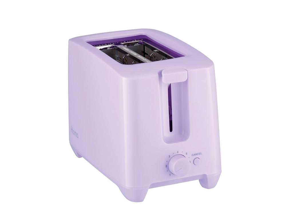 Τοστιέρα Φρυγανιέρα max750W με Αντικολλητικές πλάκες και δύο θέσεις για φέτες ψωμί σε Χρώμα Βιολετί