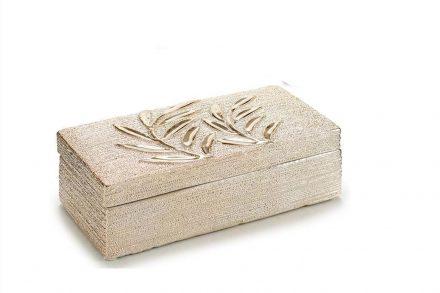 Θήκη Κοσμημάτων Μπιζουτιέρα σε ορθογώνιο σχήμα με καπάκι και Χρυσές λεπτομέρειες