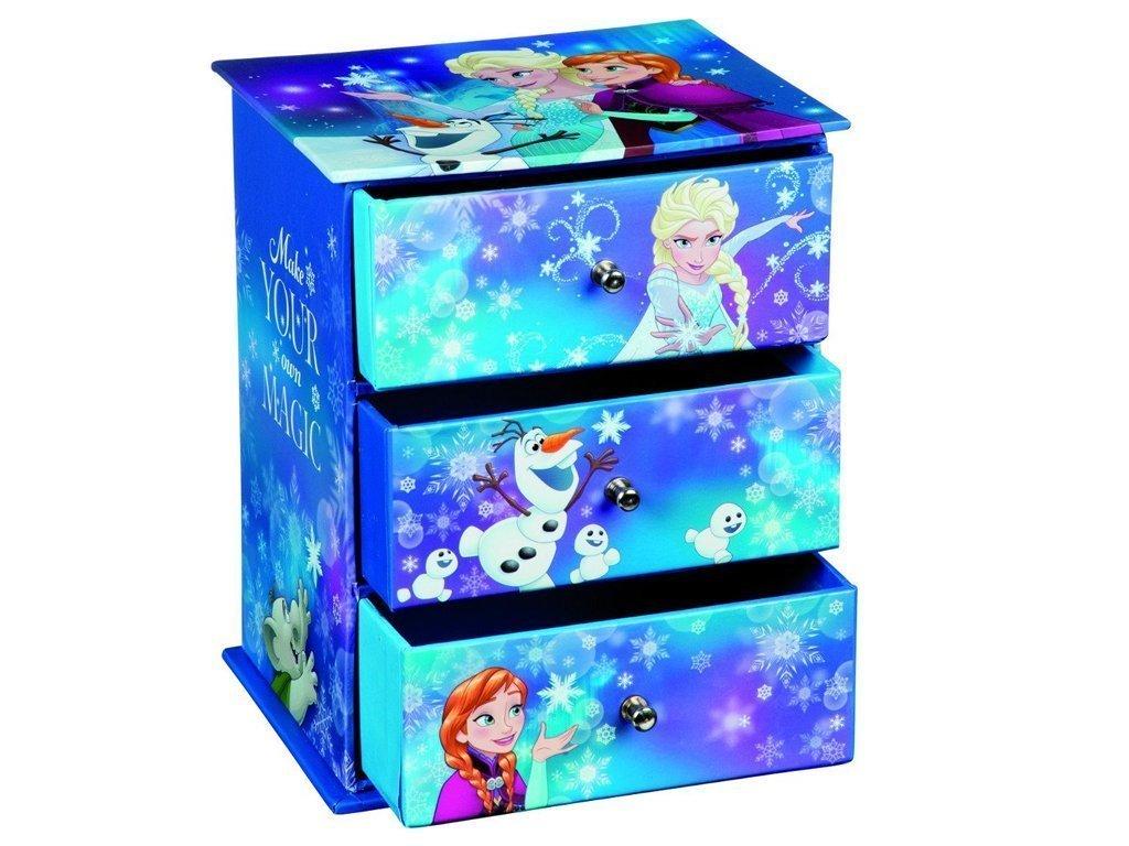 Disney Frozen Συρταριέρα Αποθήκευσης αντικειμένων με 3 Συρτάρια με θέμα τους ήρωες από την ταινία Frozen διαστάσεων 13.5x11x16.5cm