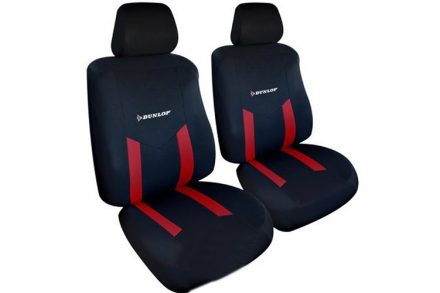Dunlop Universal Καλύμματα Καθισμάτων Αυτοκινήτου σετ 6 τεμ σε Κόκκινο χρώμα