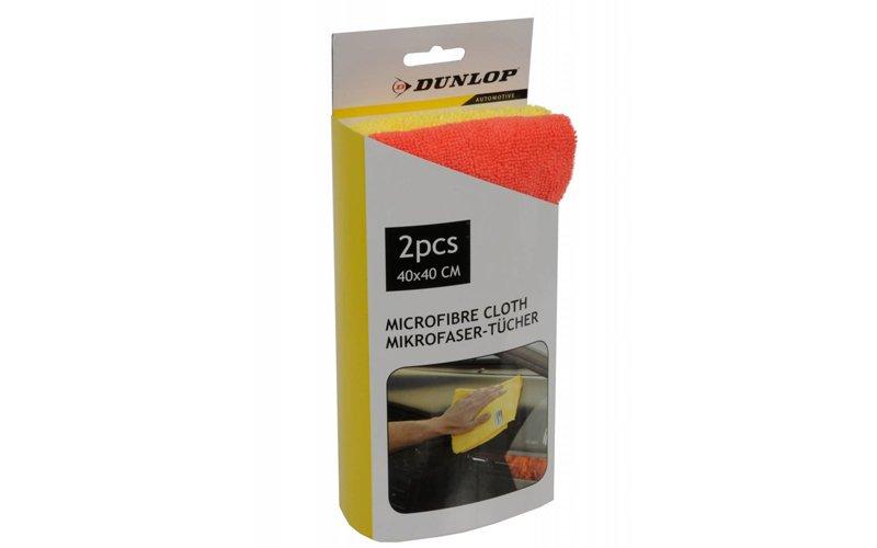 Dunlop Πανί Καθαρισμού Microfibra Σετ 2 τμχ. για το Αυτοκίνητο από Μικροίνες για όλες τις χρήσεις 40x40cm - Dunlop Vehicle