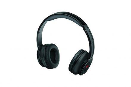 AEG Στερεοφωνικά Επαναφορτιζόμενα Ακουστικά Bluetooth 400mA σε Μαύρο χρώμα