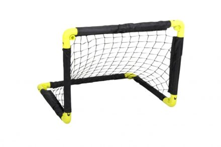 Πτυσσόμενο Τέρμα Ποδοσφαίρου σε Μαύρο Κίτρινο χρώμα