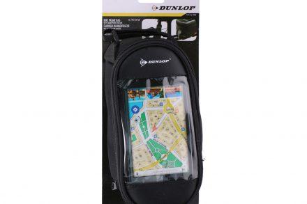 Dunlop Τσάντα Θήκη Ποδηλάτου με Πλαίσιο για την Οθόνη του κινητού και Θήκη για τα Ακουστικά