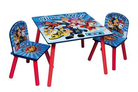 Paw Patrol Ξύλινο Σετ Τραπεζάκι με 2 Καρέκλες για παιδιά κατάλληλο για ηλικίες από 3 ετών και εως 22 κιλά
