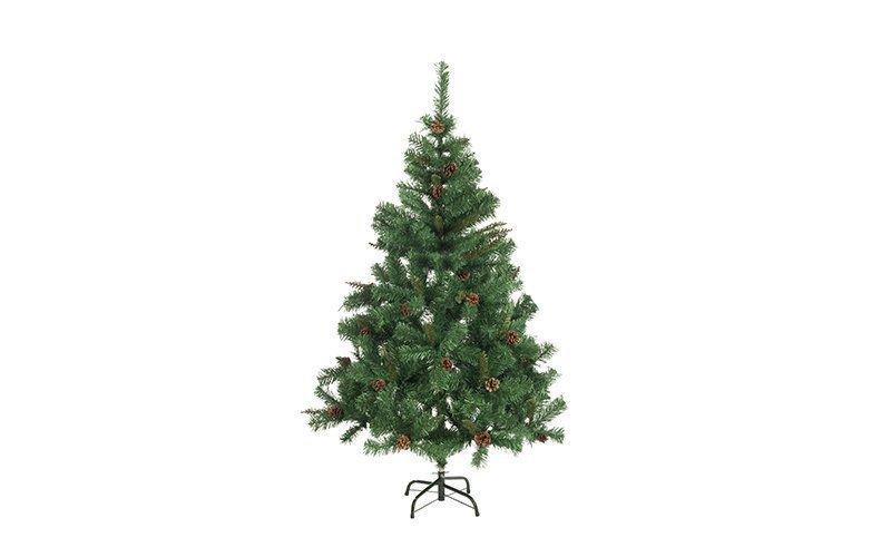 Τεχνητό Χριστουγεννιάτικο Δέντρο τύπου Έλατο με Κουκουνάρια ύψους 150cm με Μεταλλική βάση - Christmas Gifts