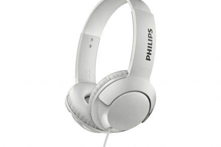 Philips Αναδιπλούμενα Στερεοφωνικά Ακουστικά 103dB σε Λευκό χρώμα