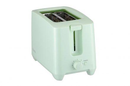Τοστιέρα Φρυγανιέρα max750W με Αντικολλητικές πλάκες και δύο θέσεις για φέτες ψωμί σε Χρώμα Μέντας