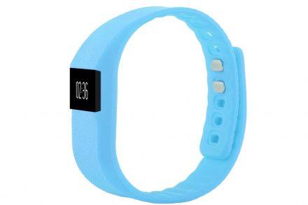 Sogo Sport Bluetooth Βραχιόλι με Πολλαπλές Λειτουργίες και καλώδιο φόρτισης Usb σε Γαλάζιο χρώμα