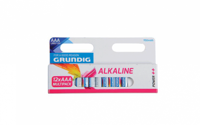 Grundig 51678 Αλκαλικές Μπαταρίες 12τεμ. 950mah ΑΑA/LR3 - Grundig