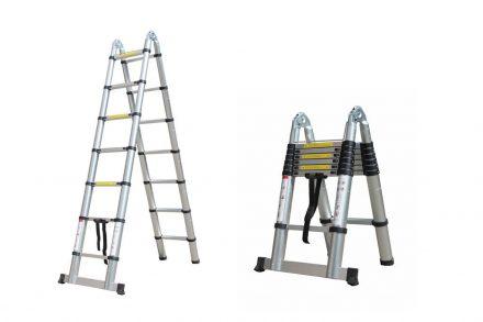 Herzberg Τηλεσκοπική Σκάλα 4.40 m από Αλουμίνιο με 13 σκαλιά και αντιολισθητικά πόδια