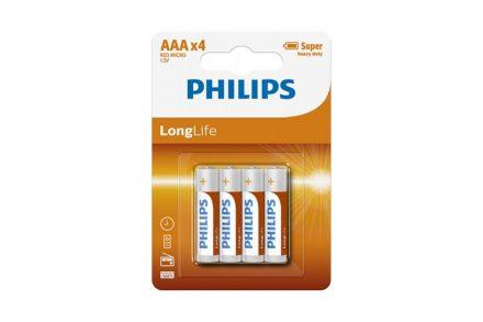 Philips Long Life Μπαταρίες ΑΑΑ Μεγάλης Διάρκειας 4 τεμ.