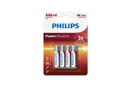 Philips Μπαταρίες Power Alkaline AAA 4 τεμ.