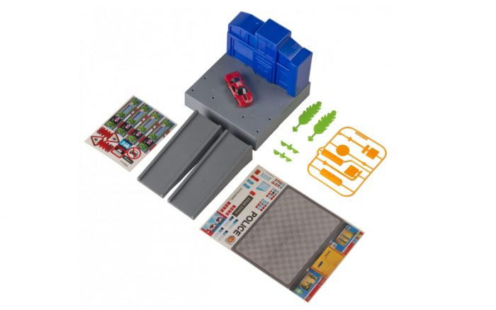 Gearbox 56456 Σετ Παιχνιδιού Γκαράζ αυτοκινήτων σε Αστυνομία με 1 Αυτοκίνητο 14 τμχ. σε Μπλε χρώμα - Gearbox