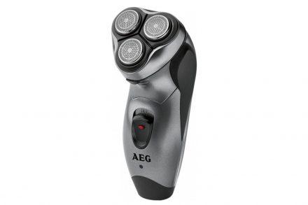 AEG Επαναφορτιζόμενη Ξυριστική Μηχανή Τριπλού συστήματος κοπής με 3 κινούμενα ξυράφια αλουμινίου σε Γκρι χρώμα