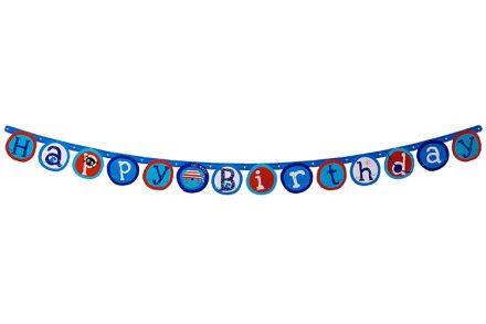 """Eddy Toys Ναυτική Γιρλάντα με Γράμματα """"Happy Birthday"""" 175cm - Eddy Toys"""