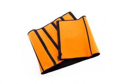 Αθλητική Ζώνη Εφίδρωσης Αδυνατίσματος με επίδραση sauna σε Πορτοκαλί χρώμα