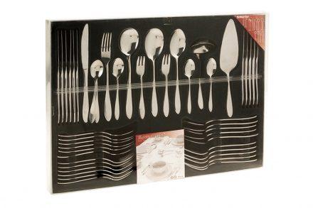 Excellent Houseware Σετ Μαχαιροπίρουνα 60 τεμ. από Ανοξείδωτο Ατσάλι σε Κασετίνα Δώρου