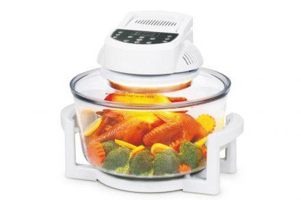 Πολυμάγειρας Φουρνάκι Ρομπότ Αλογόνου 12Lt 1400W Θερμού Αέρα για Υγιεινή διατροφή