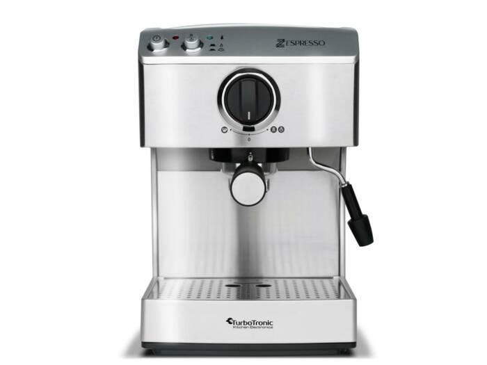 Καφετιέρα Espresso Cappuccino 15bar Πίεσης με Αποσπώμενο Δοχείο 1.7Lt σε Ασημί χρώμα