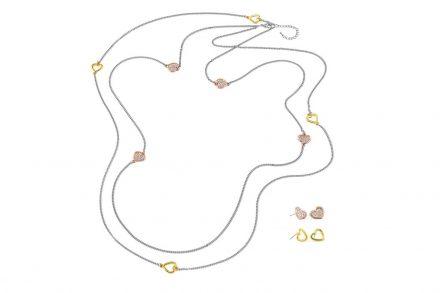 Pierre Cardin PXN6422 Σετ 1 Κολιέ με 2 Ζευγάρια Σκουλαρίκια από κράμα χρυσού
