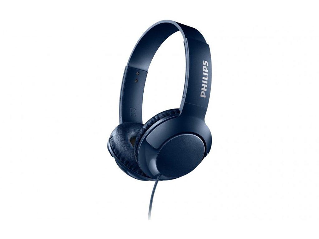 Philips Αναδιπλούμενα Στερεοφωνικά Ακουστικά 103dB σε Μπλε χρώμα
