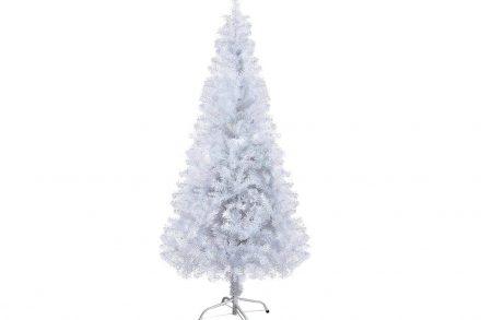 Χριστουγεννιάτικο Δέντρο Λευκό με Μεταλλική Βάση