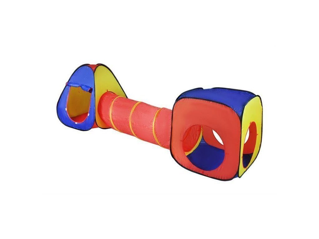 Αναδιπλούμενο παιδικό σπιτάκι σκηνή 3 σε 1 συνολικού μήκους 283cm αποτελούμενο απο ένα κύβο
