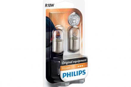 Philips Σετ Λάμπες Αυτοκινήτου 2 τεμάχια R10W 12V 10W Vision