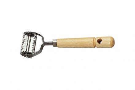 Εργαλείο Κουζίνας Κόφτης Ζυμαρικών από Ανοξείδωτο Ατσάλι και Ξύλο Οξιάς για  Οδοντωτό κόψιμο