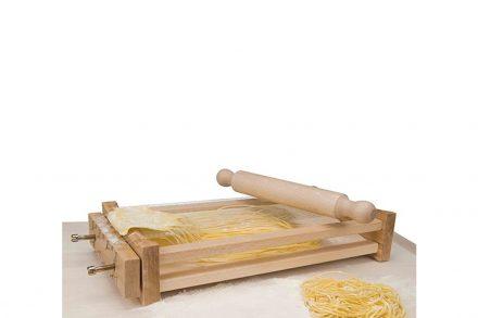 """Εργαλείο Κουζίνας Ξύλινη Συσκευή Κοπής Ζυμαρικών """"Κιθάρα"""" για Λεπτό Σπαγέττι"""