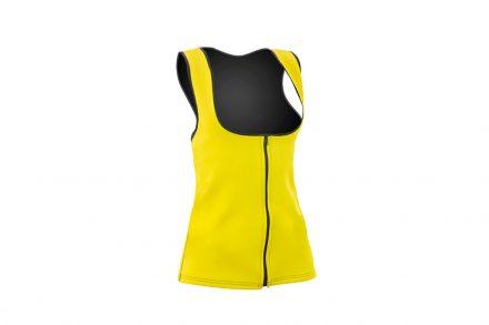 Γυναικείο Αθλητικό Γιλέκο Αδυνατίσματος και Εκγύμνασης από Πολυεστέρα με επίδραση sauna σε Κίτρινο χρώμα