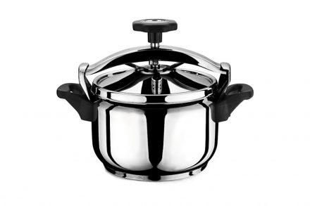 Χύτρα Ταχύτητας 9L από Ανοξείδωτο Ατσάλι με μη θερμαινόμενες λαβές κατάλληλη για όλες τις εστίες μαγειρέματος