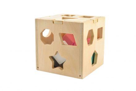 Ξύλινος Κύβος Εκπαιδευτικό Παιχνίδι με τουβλάκια