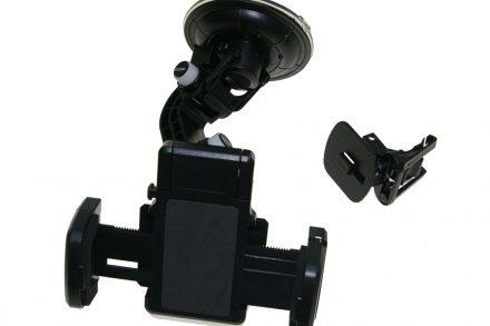 All Ride Universal Βάση στήριξης 360 μοιρών για Κινητό/GPS/iPod/MP3 με βεντούζα και κλιπ για Αυτοκίνητο και Φορτηγό σε Μαύρο χρώμα