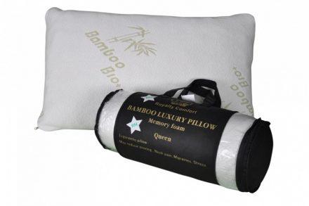 Ανατομικό Mαξιλάρι Ύπνου Bamboo Βιολογικό Υποαλλεργικό Εργονομικό με διαστάσεις 50.8x76.2cm απο 100% Memory Foam με αφαιρούμενο Κάλυμμα Royalty Comfort Queen SLT-PLM-070 - Royalty Comfort