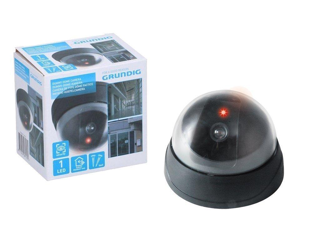 Ψεύτικη Κάμερα παρακολούθησης Dummy Security Camera για εσωτερικούς και εξωτερικούς χώρους σε Μαύρο χρώμα
