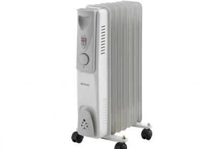 Sogo Ηλεκτρικό Φορητό Καλοριφέρ Λαδιού Θερμαντικό Σώμα με Μέγιστη Ισχύ 1500W