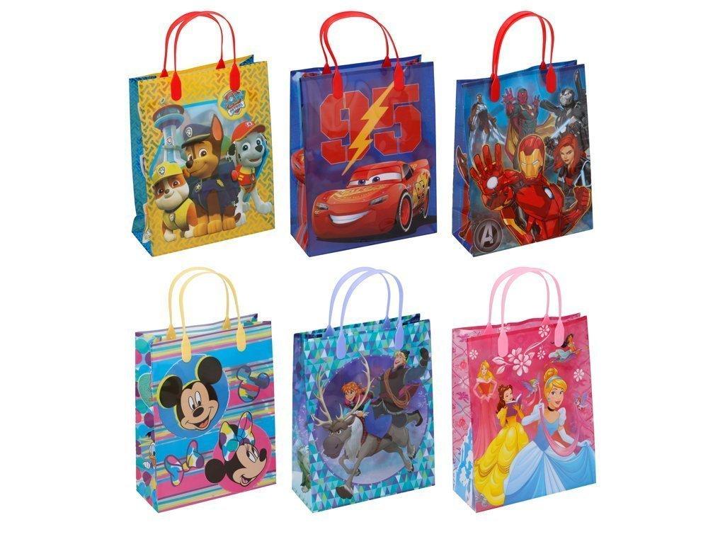 Disney Πλαστική Τσάντα δώρου με απεικονίσεις από διάφορους ήρωες της Disney