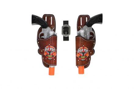 Eddy Toys Αποκριάτικο Παιχνίδι Σετ 2 Πλαστικά Πιστόλια Cowboy 28cm με Θήκες και Ζώνη