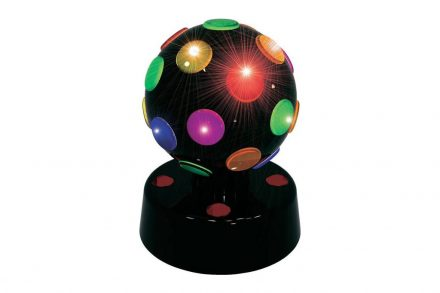 Party Fun Lights Disco Μπάλα 10cm LED σε μαύρο χρώμα