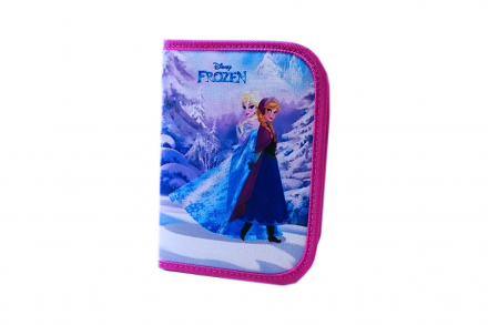 Disney Frozen Σχολική Κασετίνα μονή 21x15cm γεμάτη με 18 τεμ - Disney