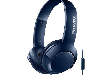 Philips Αναδιπλούμενα Στερεοφωνικά Ακουστικά 103 dB με Μικρόφωνο σε Μπλε χρώμα