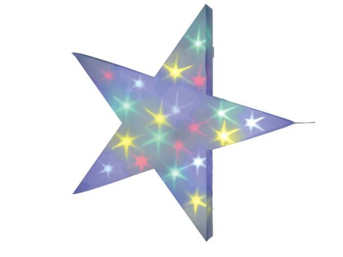 Christmas Gifts Διακοσμητικό Χριστουγεννιάτικο Φωτιστικό Αστέρι με ολόγραμμα αστεράκια