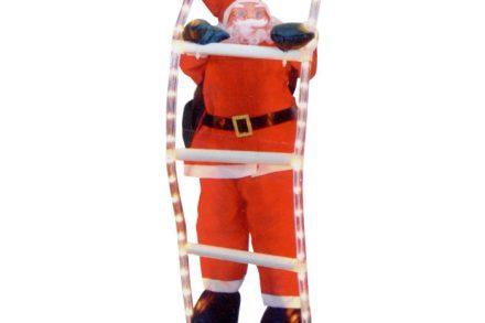 Διακοσμητικός Φουσκωτός Άγιος Βασίλης 38cm Με Φωτοσωλήνα 1.5m - Cb