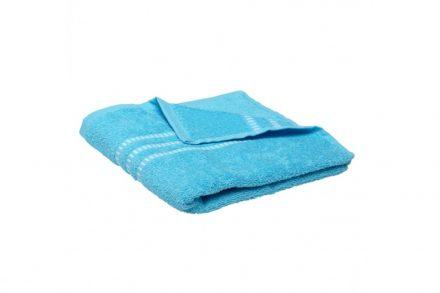 Βαμβακερή Πετσέτα Μπάνιου Χεριών 50x100cm με Απλό Σχέδιο σε Μπλε Χρώμα