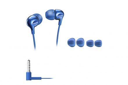 Philips Vibes Ακουστικά Ψείρες Stereo (In-ear) Δυναμικού τύπου με 1.2m καλώδιο και 3 Διαφορετικά μεγέθη Ανταλλακτικά σε Μπλε χρώμα