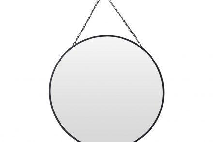 Διακοσμητικός Επιτοίχιος Στρογγυλός Καθρέφτης με αλυσίδα