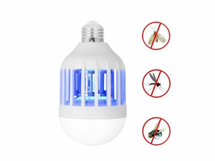 Λάμπα LED για Προστασία από Έντομα 2 σε 1