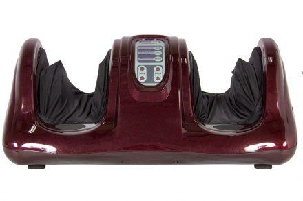 Αναπαυτική Τρισδιάστατη Συσκευή Μασάζ Ποδιών με 4 διαφορετικά Προγράμματα και τηλεχειριστήριο σε Burgundy χρώμα